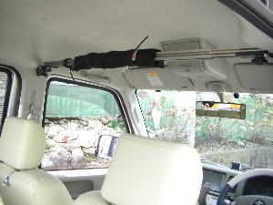 CAPキット アシストグリップ金具2ヶ所とピラー金具2ヶ所の組み合わせキット 車内キャリア