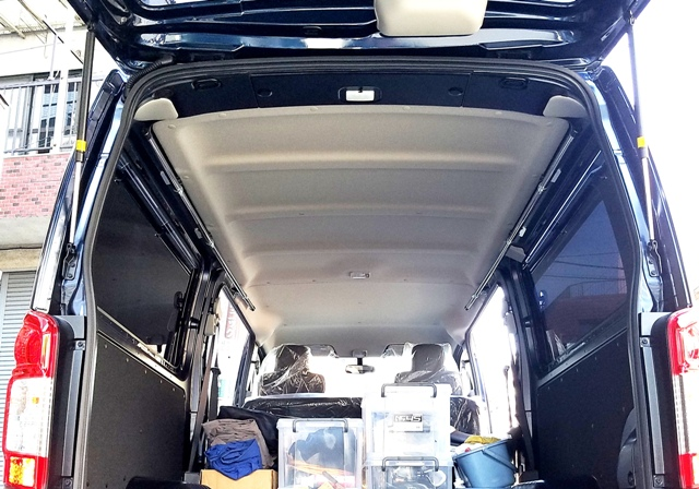 NV350 キャラバン DX サイドバー左右2本セット 車載ラック
