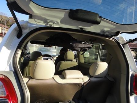 ポルテにボードを中積みできます トヨタ ポルテ ボード 車内キャリア お金を節約 人気ブランド多数対象 中積み