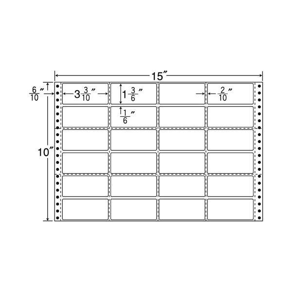 M15J(VP) 連続帳票ラベル ドットインパクト用 宛名・表示ラベル 連帳ラベル 東洋印刷 ナナラベル