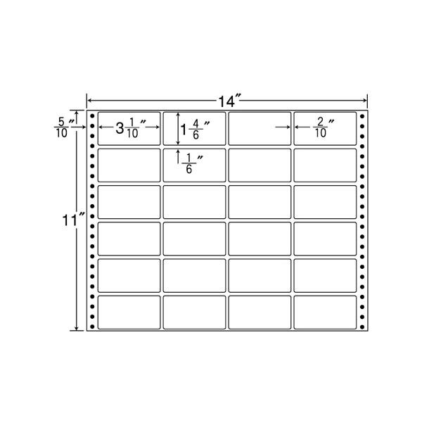 MT14N(VP2)(ドットインパクト用 宛名・OAラベル)【連帳ラベル】ナナクリエイト 東洋印刷 ナナラベル