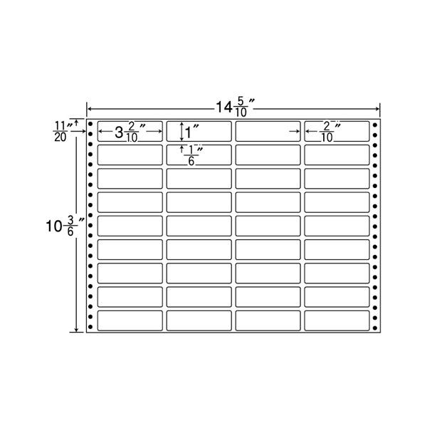 MT14Z(VP)(ドットインパクト用 表示・バーコードラベル)【連帳ラベル】ナナクリエイト 東洋印刷 ナナラベル
