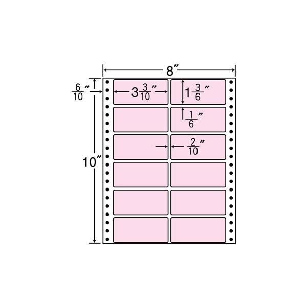 MT8C-ピンク(VP)【連帳ラベル】ナナクリエイト 東洋印刷 ナナラベル