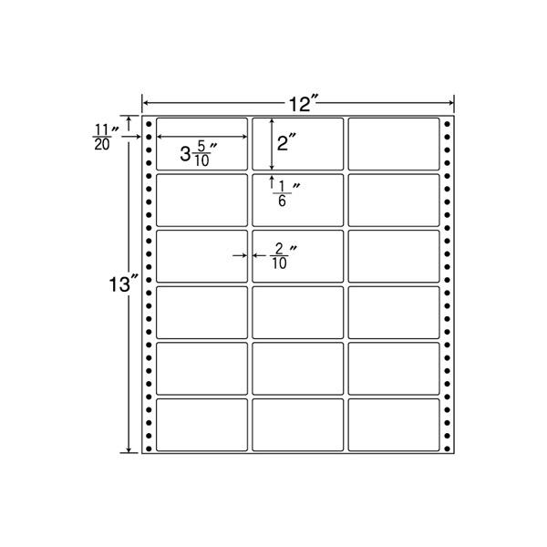 MX12D(VP)(ドットインパクト用 シリアルナンバー・表示ラベル)【連帳ラベル】ナナクリエイト 東洋印刷 ナナラベル