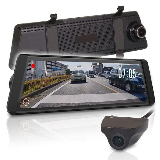 MAXWIN ドライブレコーダー ルームミラー型 前後 2カメラ 同時録画 2レンズ 高画質 バックカメラ MDR-C002[送料無料・一部地域除く]