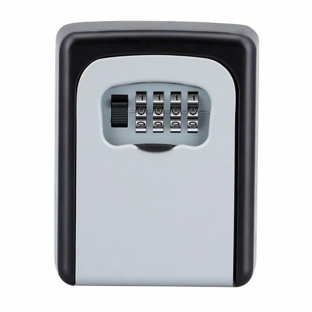 セキュリティ 壁掛式 キーボックス 鍵収納 4桁ダイヤル式 100%品質保証 防犯 盗難防止 合鍵 共有 安全 鍵 メモ カードキー 爆安 車 tecc-keybox03