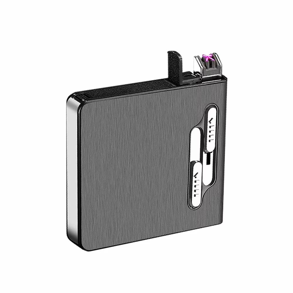 ファッション通販 メール便発送 代引不可 USB 上等 充電式 電子ライター プラズマ 20本収納 煙草 ライター シガー ボックス 防水 tecc-cigerbox たばこ ケース 防風
