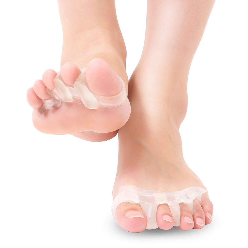 外反母趾 足指 サポーター パッド 伸縮性 フットケア 男 女 兼用 2個入 両足 靴下 リラックス tecc-yubisapo