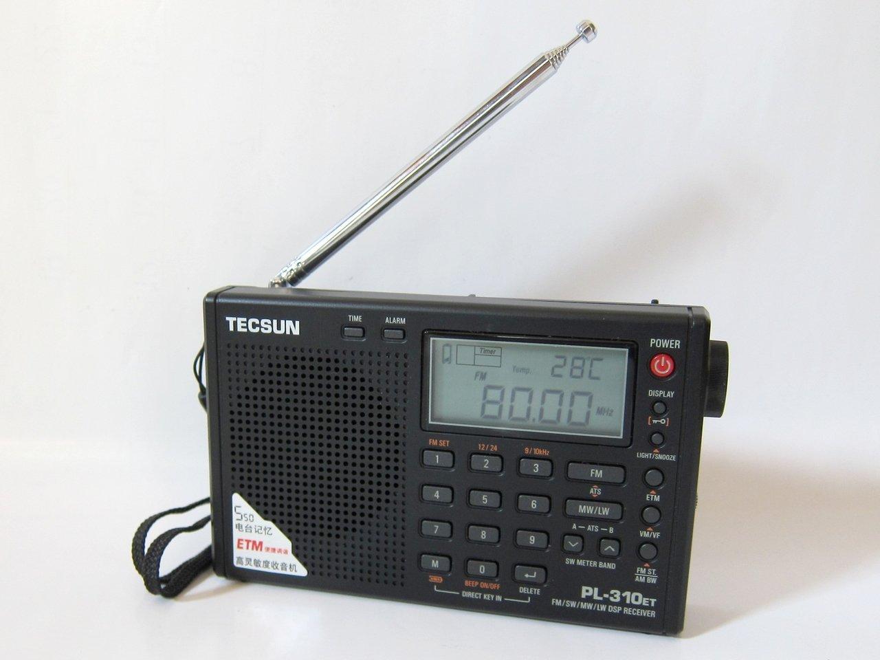 【送料無料】TECSUN BCLラジオ PL-310ET PL-310の新型  高感度 短波ラジオ 短波/AM/FMラジオ ブラックPL-310ET