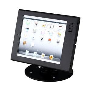【送料無料】サンワサプライ iPad 盗難防止スタンド セキュリティボックス付き・ロースタンド CR-LASTIP12BK