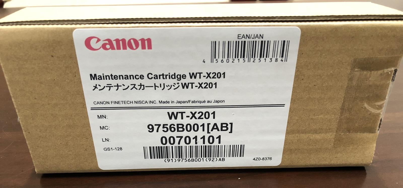 返品交換不可 キャノン メンテナンスカートリッジWT-X201 税込 AB 9756B001