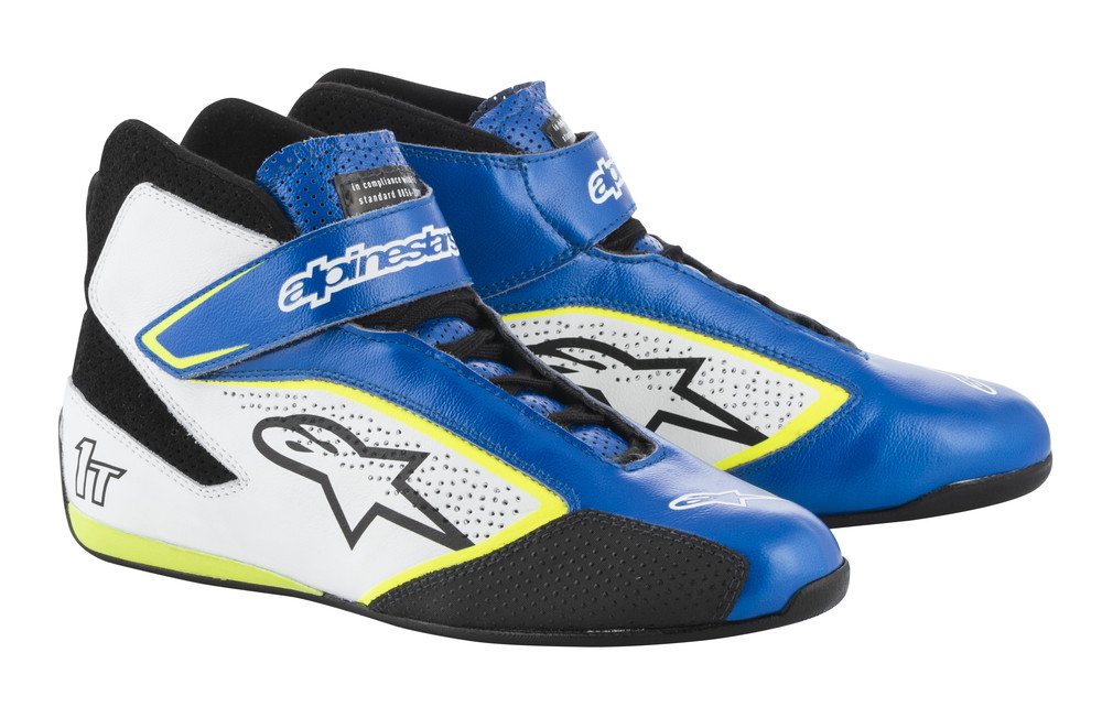 alpinestars(アルパインスターズ) TECH 1-T SHOES BLUE WHITE YELLOW FLUO サイズ:7.5 品番:2710019-758-7.5