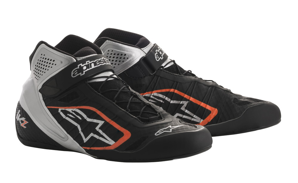 alpinestars(アルパインスターズ) TECH 1-KZ KART SHOES BLACK SILVER ORANGE FLUO サイズ:9 品番:2713018-1114-9