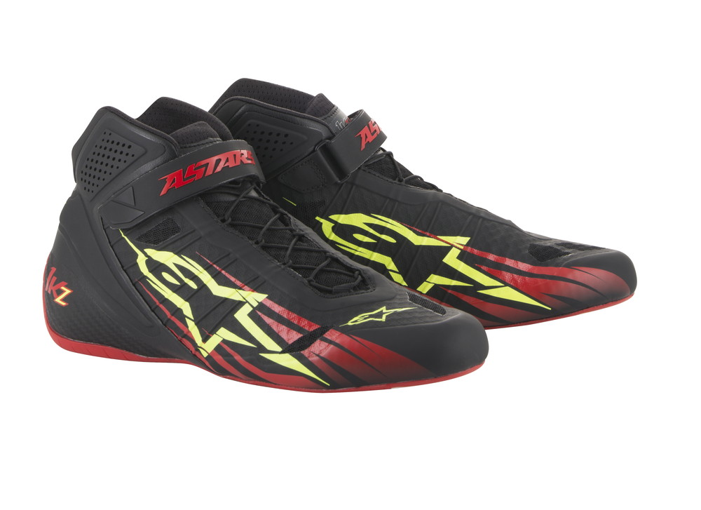alpinestars(アルパインスターズ) TECH 1-KZ KART SHOES BLACK/RED/YELLOW FLUO サイズ:7 品番:2713018-136-7