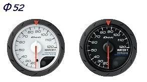 Defi(デフィ) デフィリンクメーターアドバンス CR 水温計 汎用 白文字盤 Φ52 20℃~120℃ 品番:DF08401