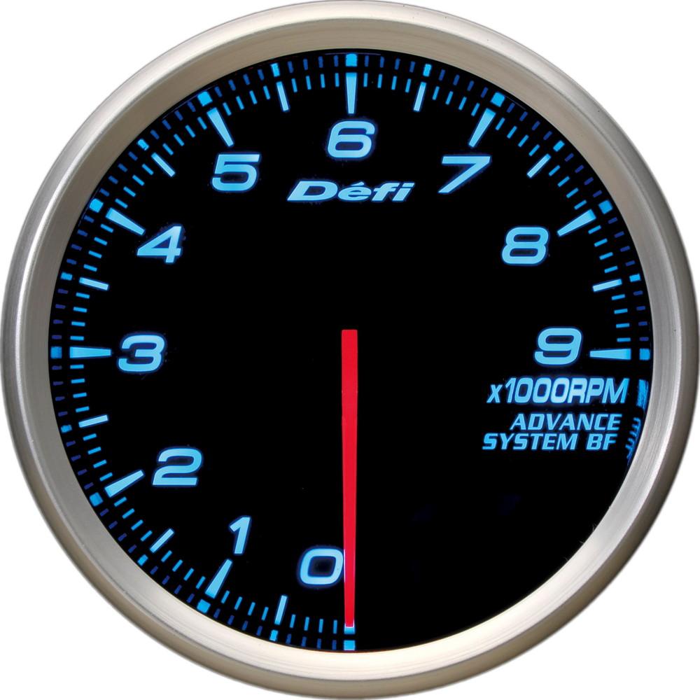 Defi(デフィ) ADVANCE BF φ80 タコメーター9000rpm ブルー照明 品番:DF10903