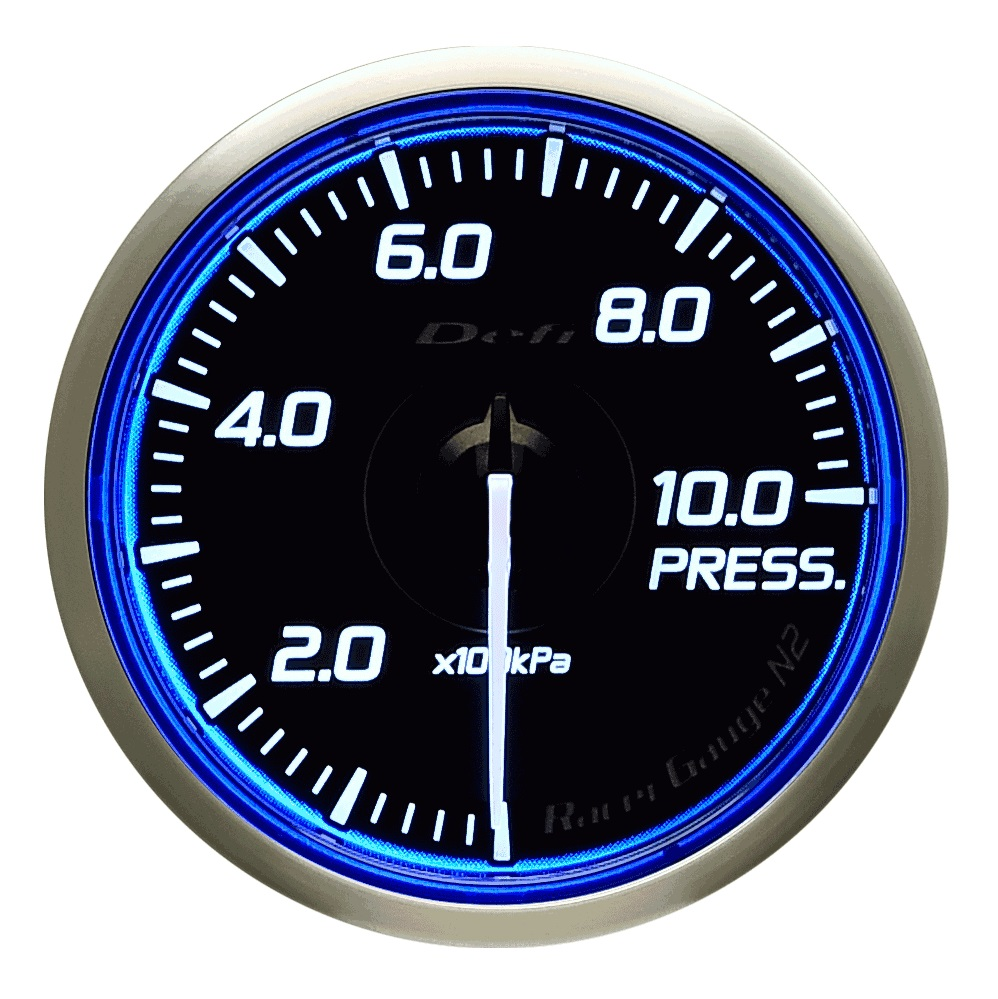 Defi(デフィ) Racer GaugeN2 φ60 圧力計(PRESS.) 品番:DF16801