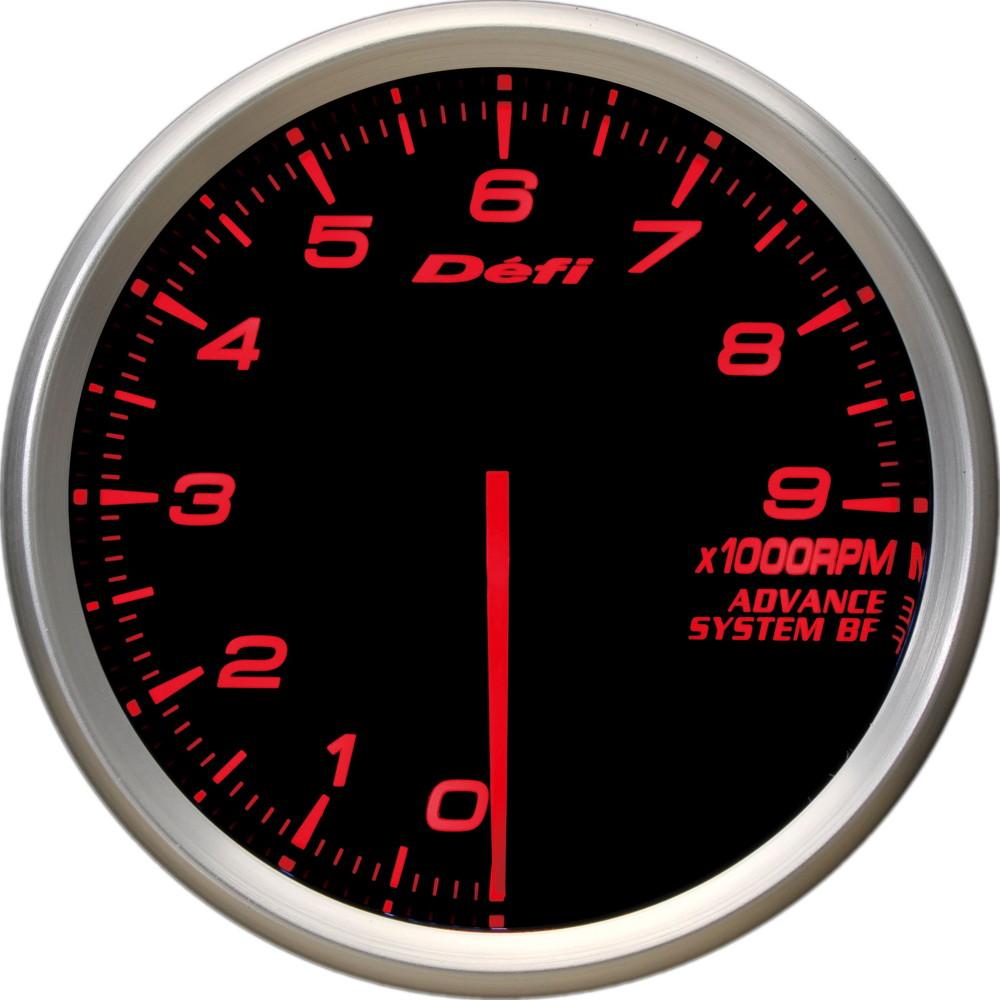 Defi(デフィ) ADVANCE BF φ60 タコメーター9000rpm アンバーレッド照明 品番:DF10705