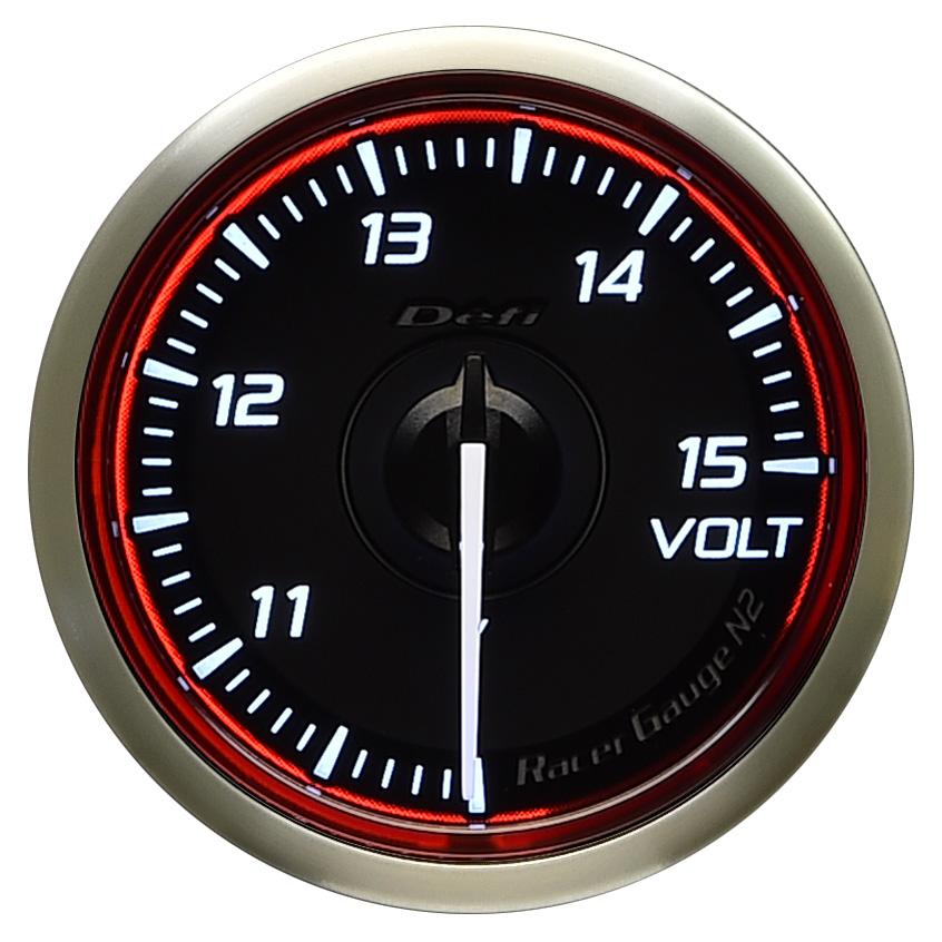 Defi(デフィ) Racer GaugeN2 φ52 電圧計 レッドモデル 品番:DF16503