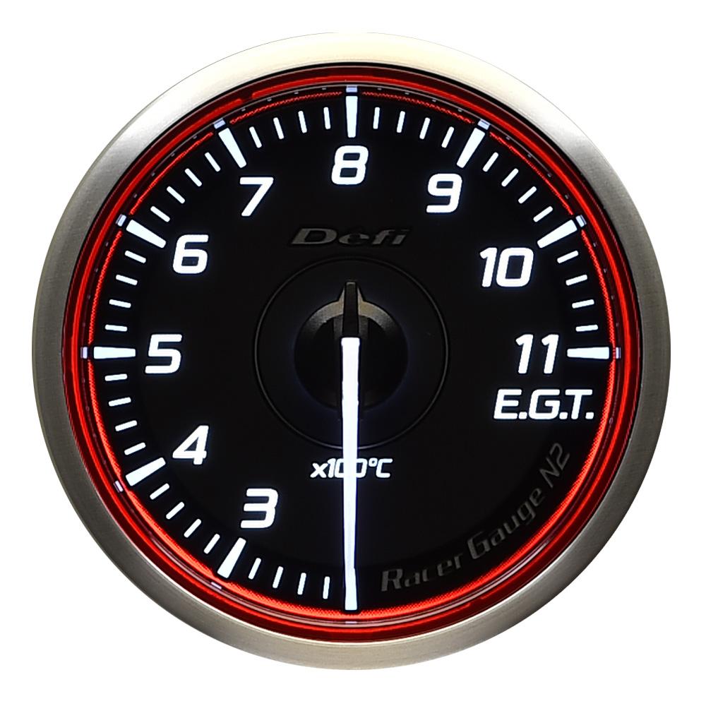 GaugeN2 φ60 レッドモデル Defi(デフィ) 品番:DF17003 Racer 排気温度計