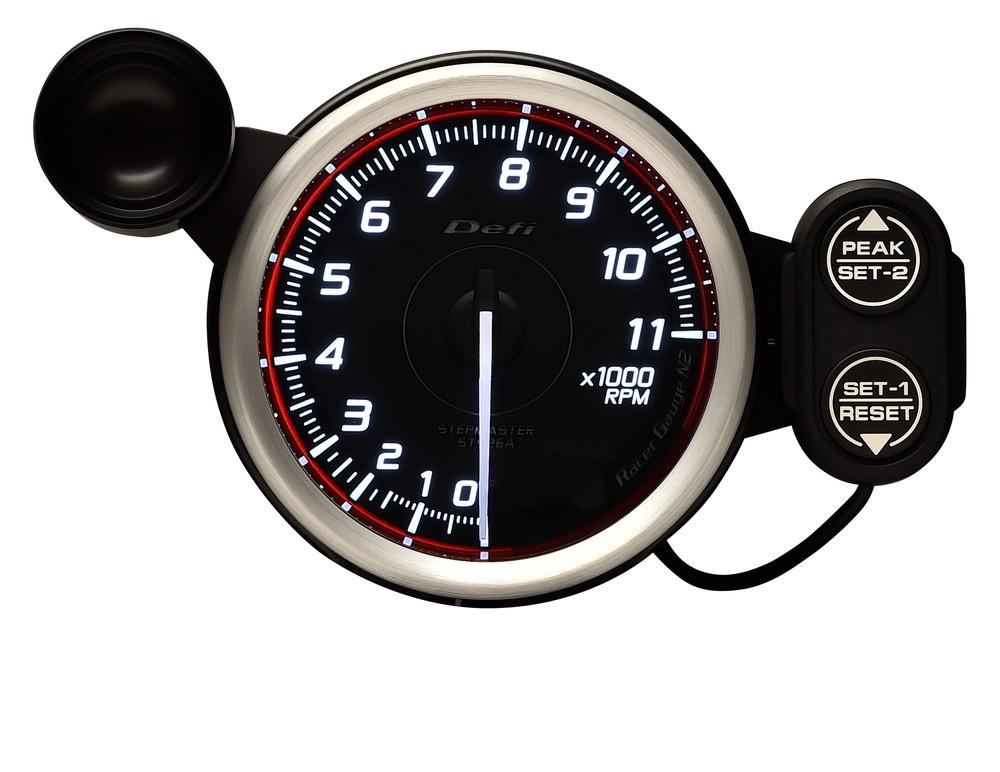 Defi(デフィ) Racer GaugeN2 φ80 タコメーター 11000rpm レッドモデル 品番:DF17303