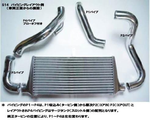 HPI インタークーラー S14 レスパイプキット 日産 シルビア S14 S14WKIT [クーリングその他] HPICP-S14WKIT