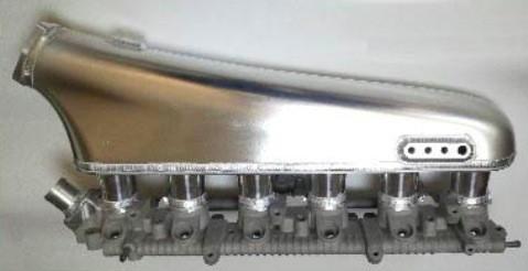HPI インテークマニホールド単体 汎用 RB25DET スロットル 102φ [エキマニ(たこ足)・エキゾーストマニホールド] HTIM-RB25A-102