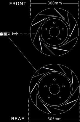 MUGEN(無限) ブレーキローター【フロント】 オデッセイ RB3/RB4 2012/07- K24A 品番:45250-XLN-K0S0
