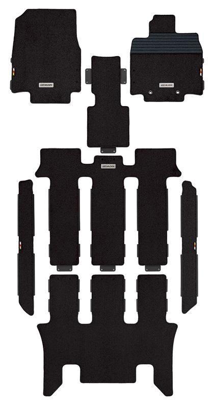 MUGEN(無限) スポーツマット ブラック 2列目キャプテンシート用 ステップワゴン RP1/RP2/RP3/RP4 2017/09- 品番:08P15-XNB-K0S0-BK