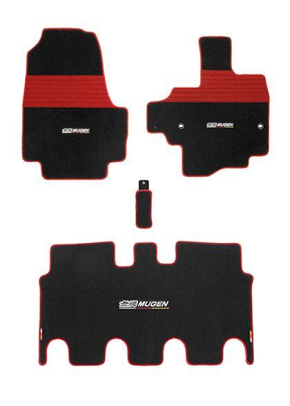 MUGEN(無限) スポーツマット レッド 車いす専用装備非装備車用 N BOX JF3/JF4 2017/08- 品番:08P15-XNHB-K1S0-RD