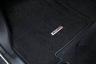 NISMO(ニスモ) フロアマットforリーフ 日産 リーフ ZE0 ~2012/11寒冷地仕様車を除く 5マット仕様 [カーマット・フロアーマット] 74902-RNZ02 黒、青ステッチ