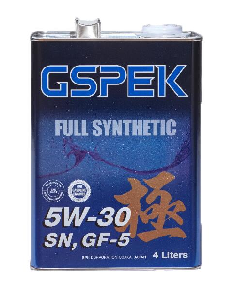 GSPEKFULLSYNTHETIC(Gr3)エンジンオイル極【5W30SN/GF-54L】【6缶入】品番:40216-6