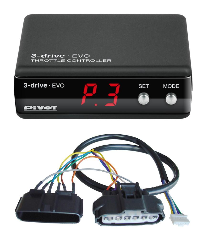 OBD接続不要! Pivot(ピボット) 3-drive・EVO ハーネスセット (3DE+TH-11A) 【TOYOTA トヨタ ハリアー H25.12- ZSU60/65W 3ZR-FAE】 品番:3DE-11A