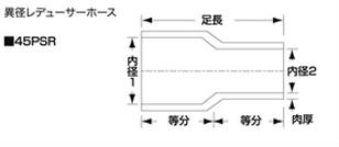 SAMCO サムコ 燃料レデューサホース FB325>FB300 76>67 40PSR7667