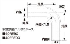 SAMCO サムコ STD異経レデューラエルボウ FB425>375 100>90 40RE4510090