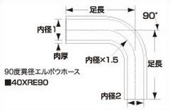 SAMCO サムコ エキストリーム異経レデューサーエルボウ FB425>325 102>76 40XRE9010276