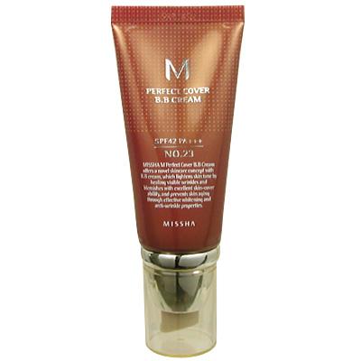 カバー力に優れた日焼け止め効果のあるBBクリームです ミシャ MISSHA BBクリーム UV 50ml お洒落 PA+++ SPF42 市販 NO.23