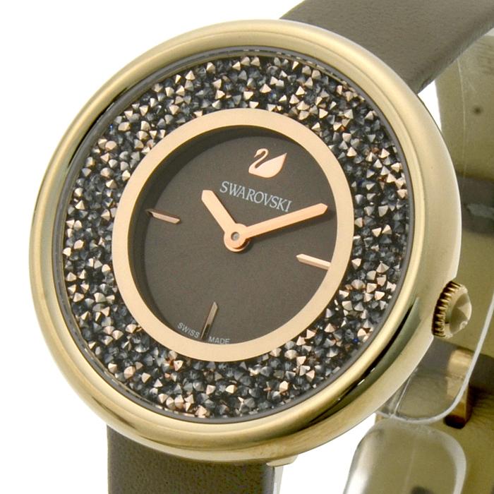 f11a68594176 スワロフスキーSWAROVSKIクリスタルラインピュアCRYSTALLINEPUREレディース時計ウォッチ5416704グレー文字盤