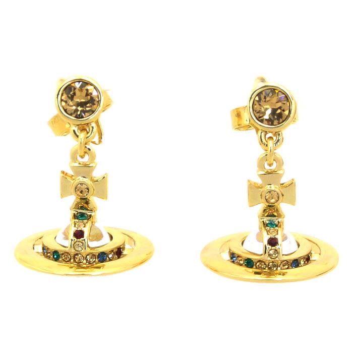 ヴィヴィアンウエストウッド Vivienne Westwood ペティートオーブ PETITE ORB ピアス 724537B 2 ゴールドカラー