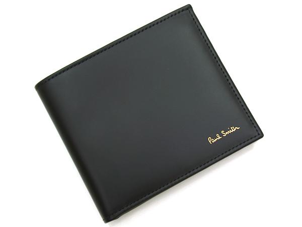 ポールスミス Paul Smith 二つ折り財布 ATXC 4833 W761 79 ブラック【NNPG】