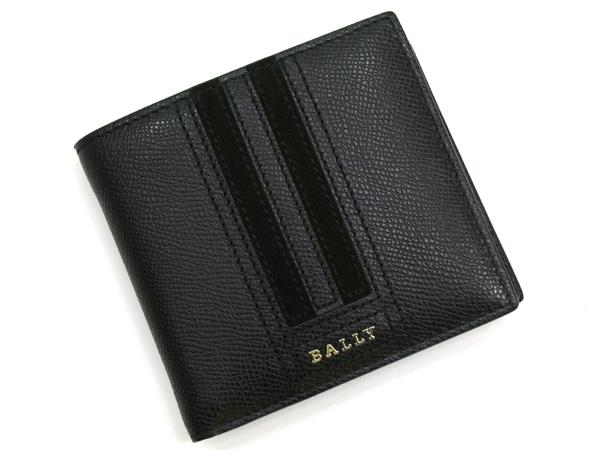 バリー BALLY 二つ折り財布 TEISEL LT 230 BLACK ブラック 【あす楽対応】