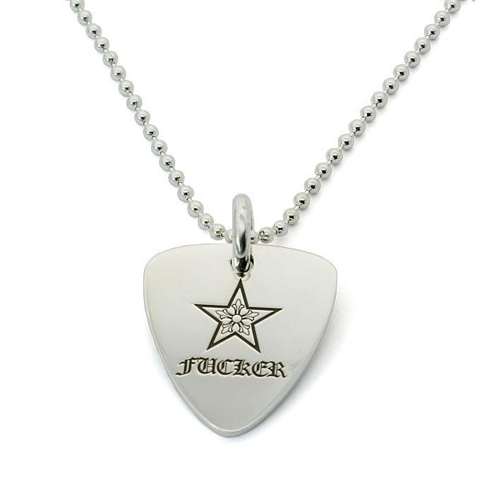 クロムハーツ Chrome Hearts ギターピック スターファッカー Guitar pick star fucker ペンダント シルバー925