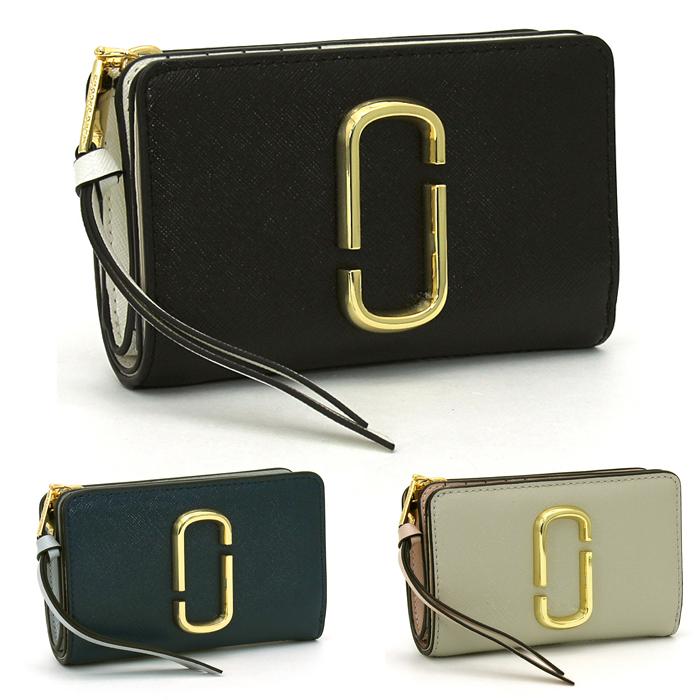 マークジェイコブス MARC JACOBS スナップショット Snapshot マークジェイコブスコンパクトウォレット Marc Jacobs Compact Wallet 二つ折り財布L字ファスナー M0014281