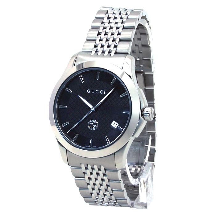 グッチ GUCCI Gタイムレス G TIMELESS 126MD メンズ 時計 ウォッチ YA1264106 ブラック文字盤