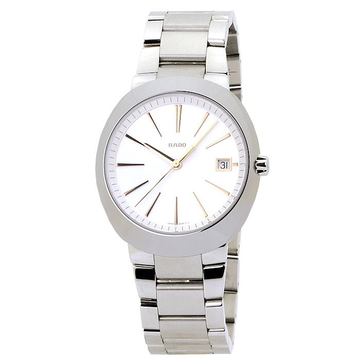 ラドー RADO Dスター メンズ 時計 ウォッチ R15943123 ホワイト コンビベルト
