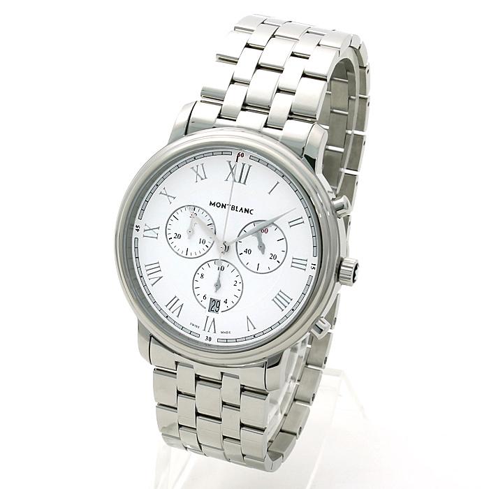 モンブラン MONT BLANC トラディションクロノグラフ メンズ 時計 ウォッチ 114340 ホワイト