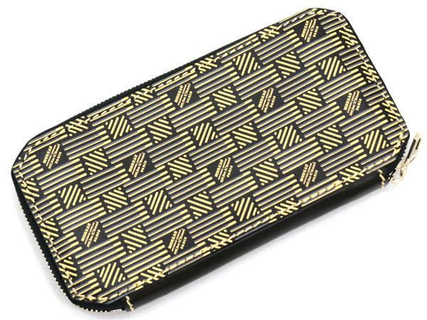 モローパリ MOREAU PARIS MPMZIP 12C 08 ラウンドファスナー長財布 ブラック ベージュ -イセINT