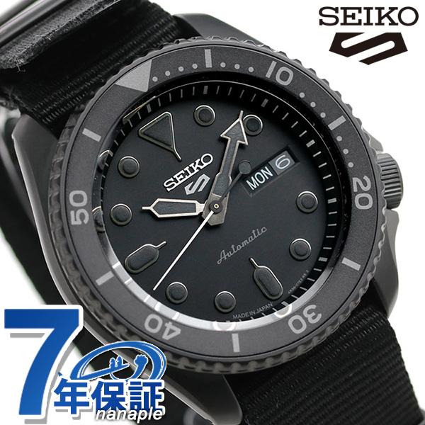 セイコー 5スポーツ 日本製 自動巻き 流通限定モデル メンズ 腕時計 SBSA025 Seiko 5 Sports ストリート オールブラック 時計【あす楽対応】