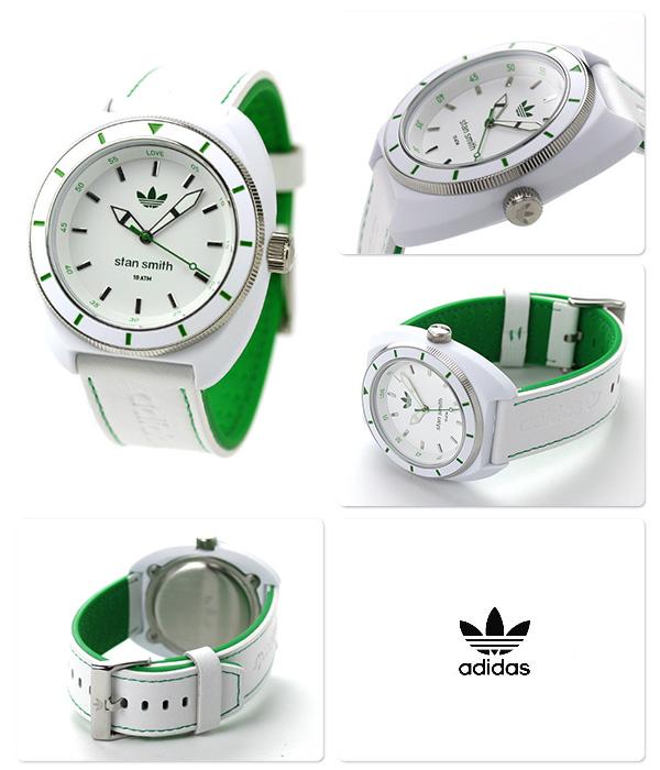 阿迪达斯Stan Smith石英手表ADH2931 adidas白×绿色