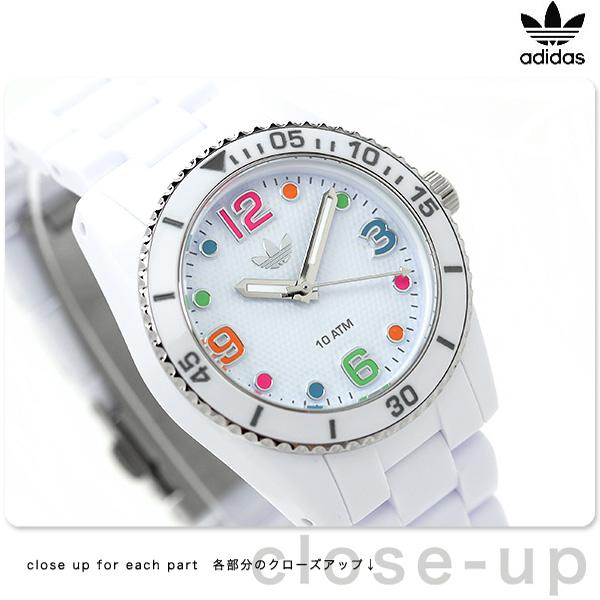 9e7c8150cd アディダス ブリスベン ナイロン ミニ レディース 腕時計 ADH2941 adidas クオーツ ホワイト